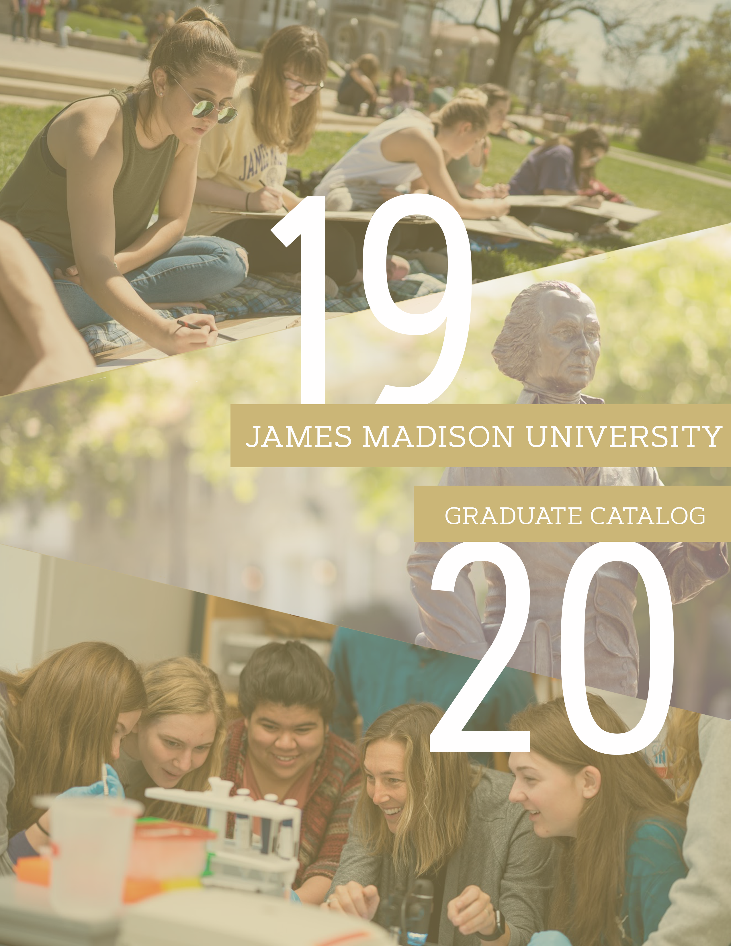 Cover of 2018-2019 James Madison University Graduate Catalog
